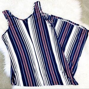 Soft maxi dress stripe summer sleeveless tank 2X